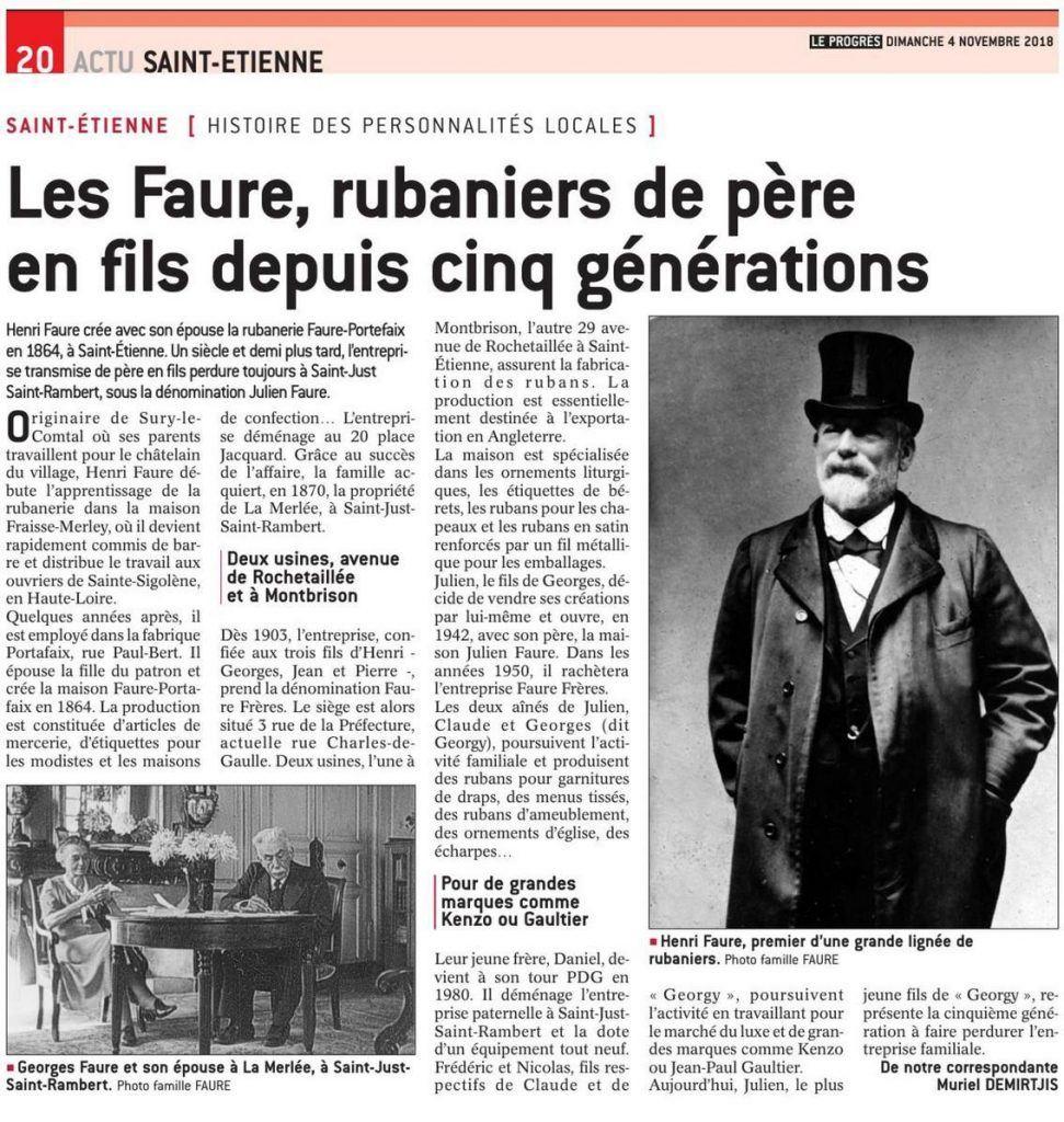 Les Faure rubaniers depuis cinq générations